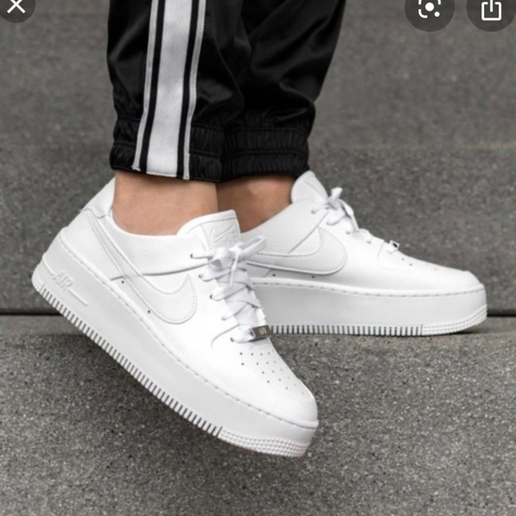 Nike Shoes Womens Air Force 1 Sage Low Triple White Size 65